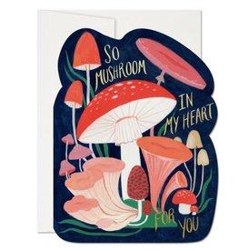 Red Cap Cards So Mushroom Die Cut Love  A7 Notecard