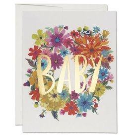 Red Cap Cards Baby Wreath A2 Notecard