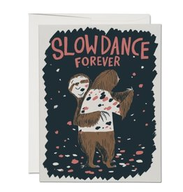 Red Cap Cards Slow Dance Sloths Love A2 Notecard