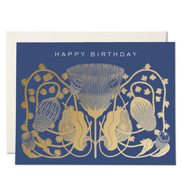 Red Cap Cards Cobalt Birthday A2 Notecard