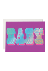 Red Cap Cards Baby Typography Card