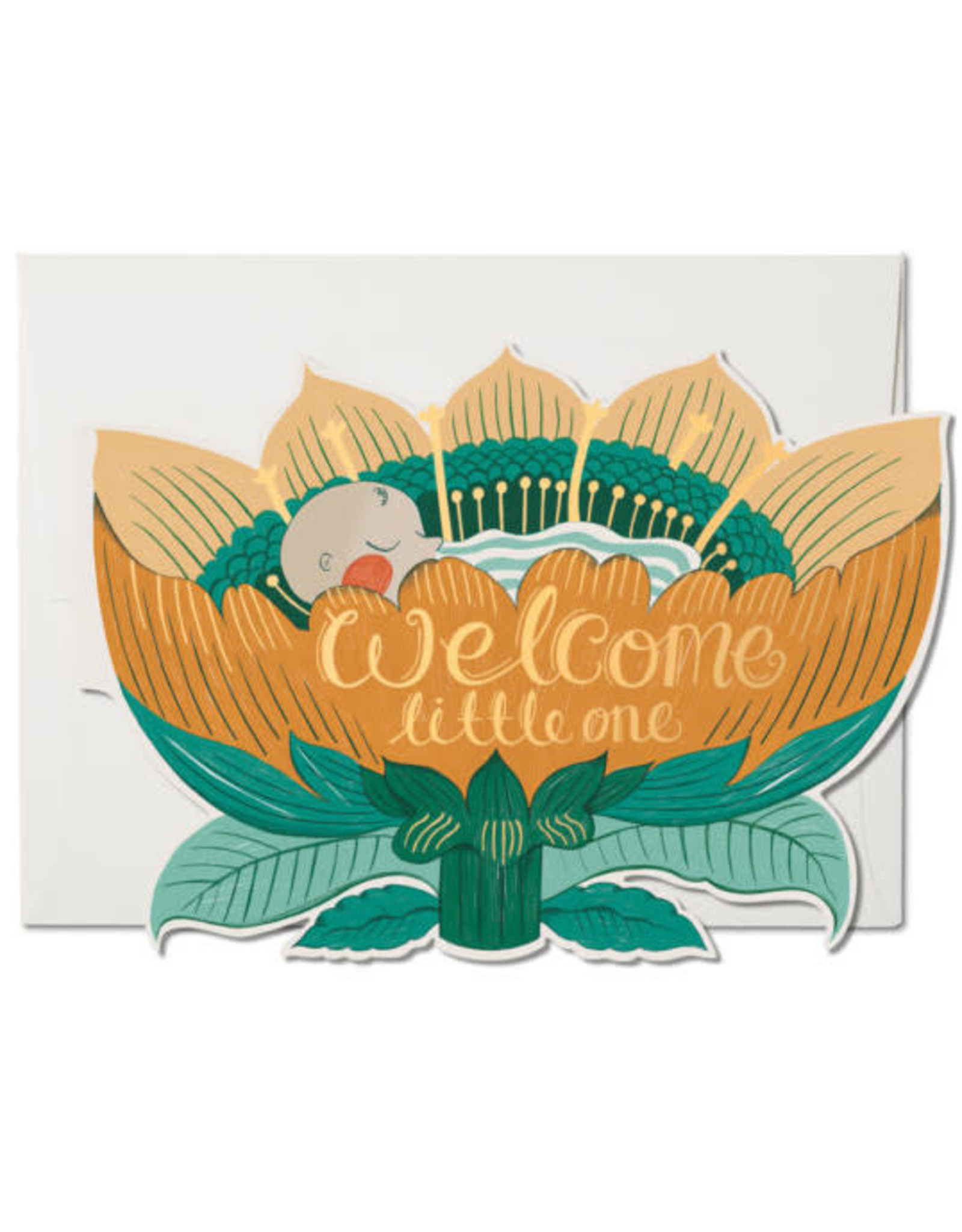 Red Cap Cards Baby Blossom Notecard