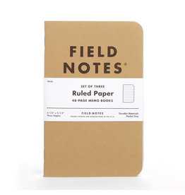 Field Notes Brand Ruled Original Pack of 3