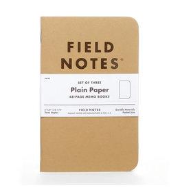 Field Notes Brand Plain Original Pack of 3