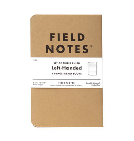 Field Notes Brand Left-Handed Ruled Notebook 3-Pack