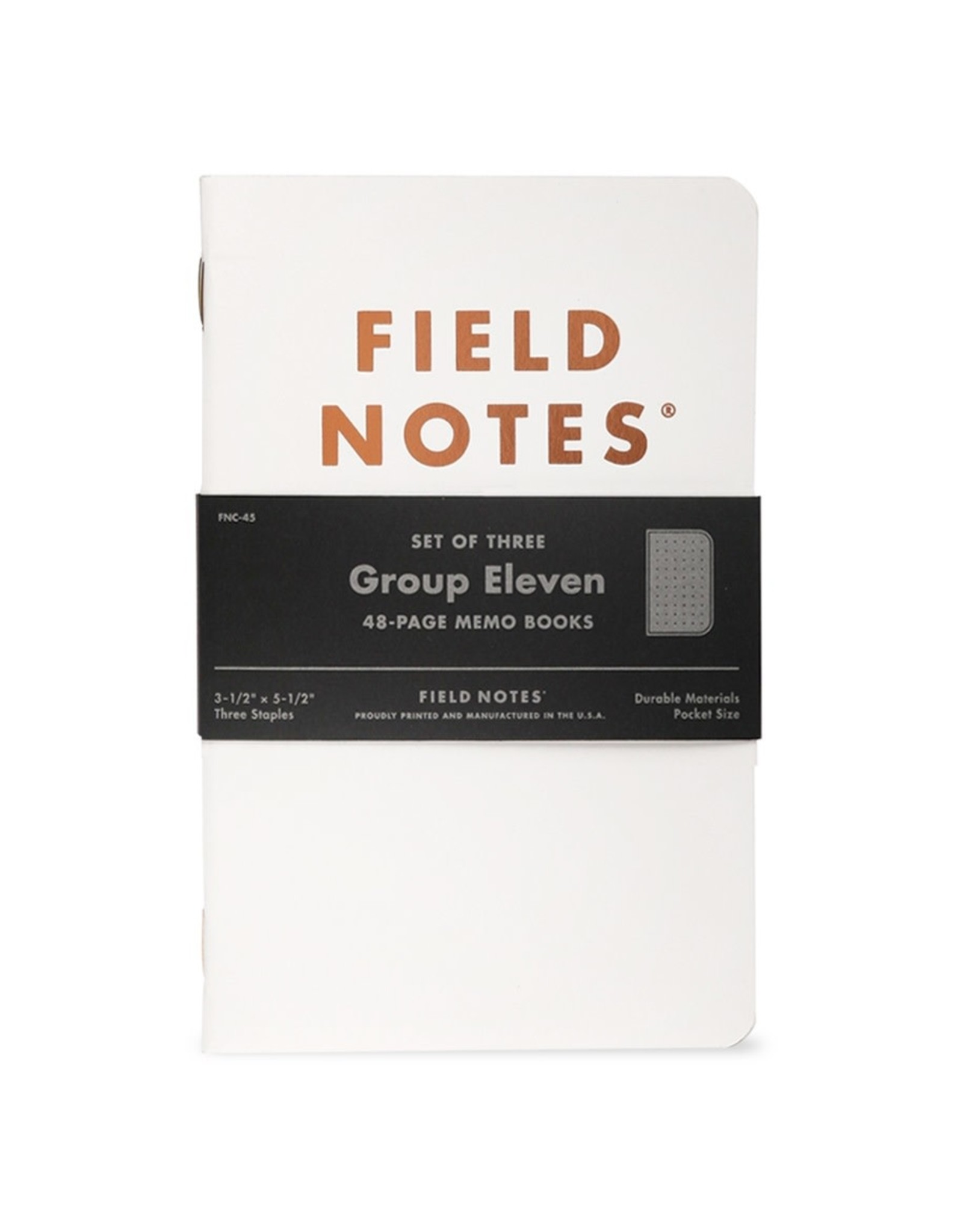 Field Notes Brand Group Eleven Dot Graph Memo Book 3-Pack