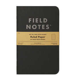 Field Notes Brand Pitch Black Note Book Ruled 2-Pack