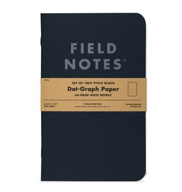 Field Notes Brand Pitch Black Note Book Dot-Graph 2-Pack