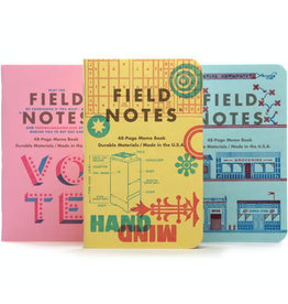 Field Notes Brand United States of Letterpress C Memo Book 3-Pack