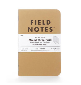 Field Notes Brand Mixed Original Pack of 3