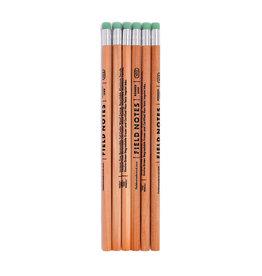 Field Notes Brand No.2 Woodgrain Pencil 6-Pack