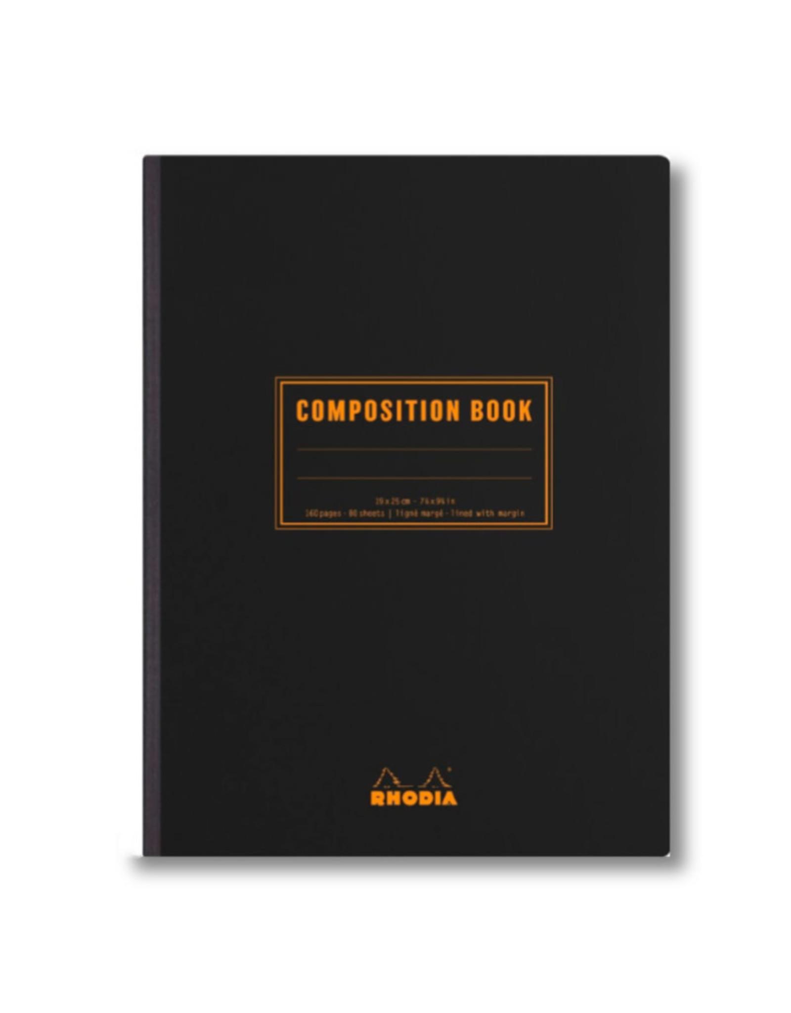 Rhodia Black Rhodia Composition Book Lined