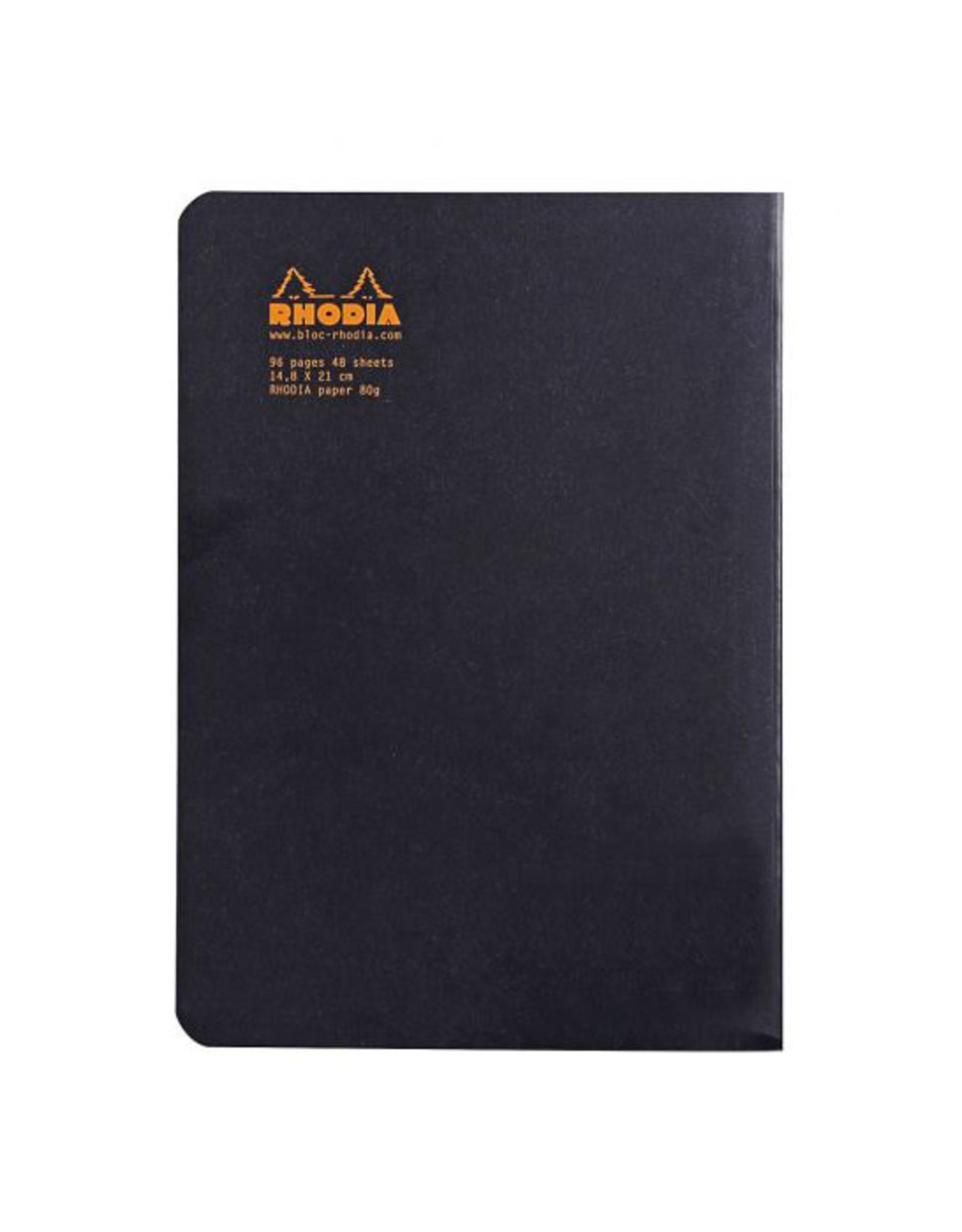 Rhodia Rhodia Black Lined Classic Notebook 6 x 8.25