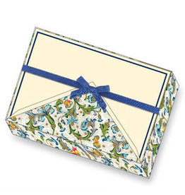 Rossi Birds Florentine Box of 8  Thank You Notecards & Lined Envelopes