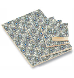 Rossi Peacock Feathers Blank A7 Notepad
