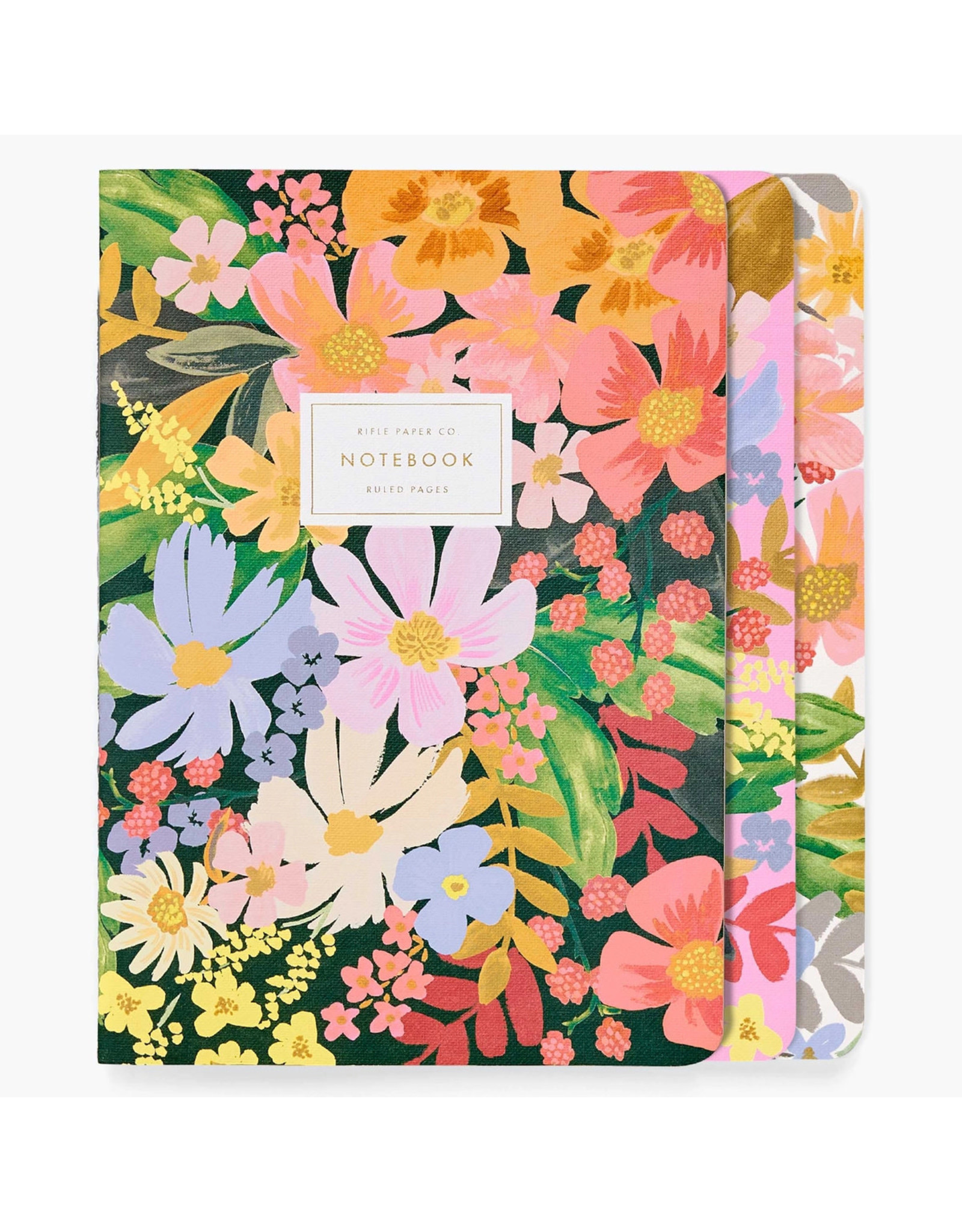 Rifle Paper Co. Marguerite Stitched Notebooks Set of 3