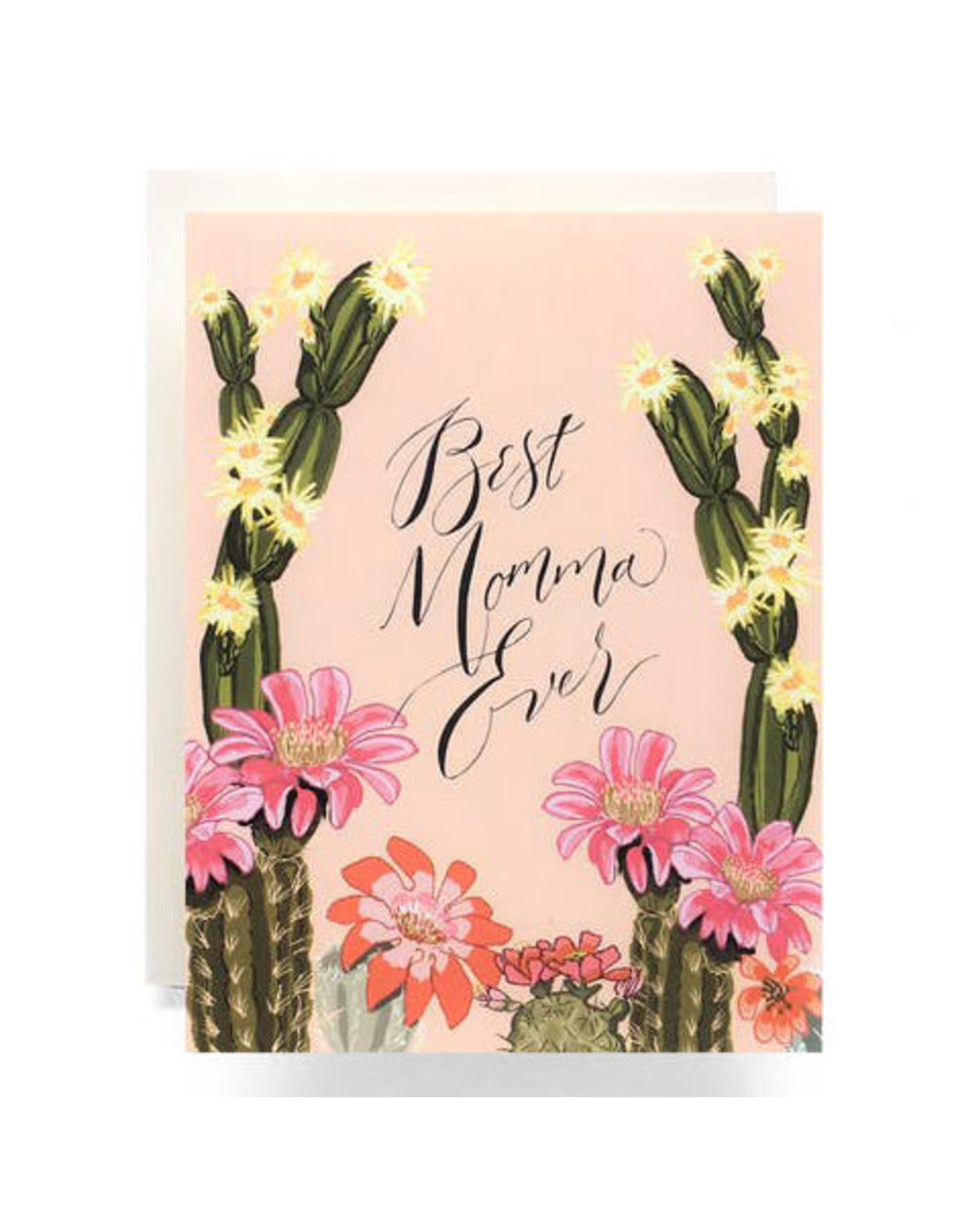 Antiquaria Cactus Bloom Mother's Day A2 Greeting Card