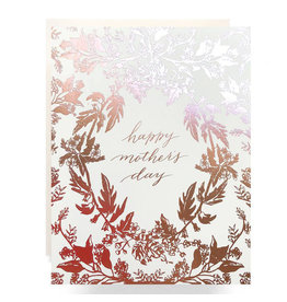Antiquaria Rose Gold Botanical Mother's Day A2 Greeting Card