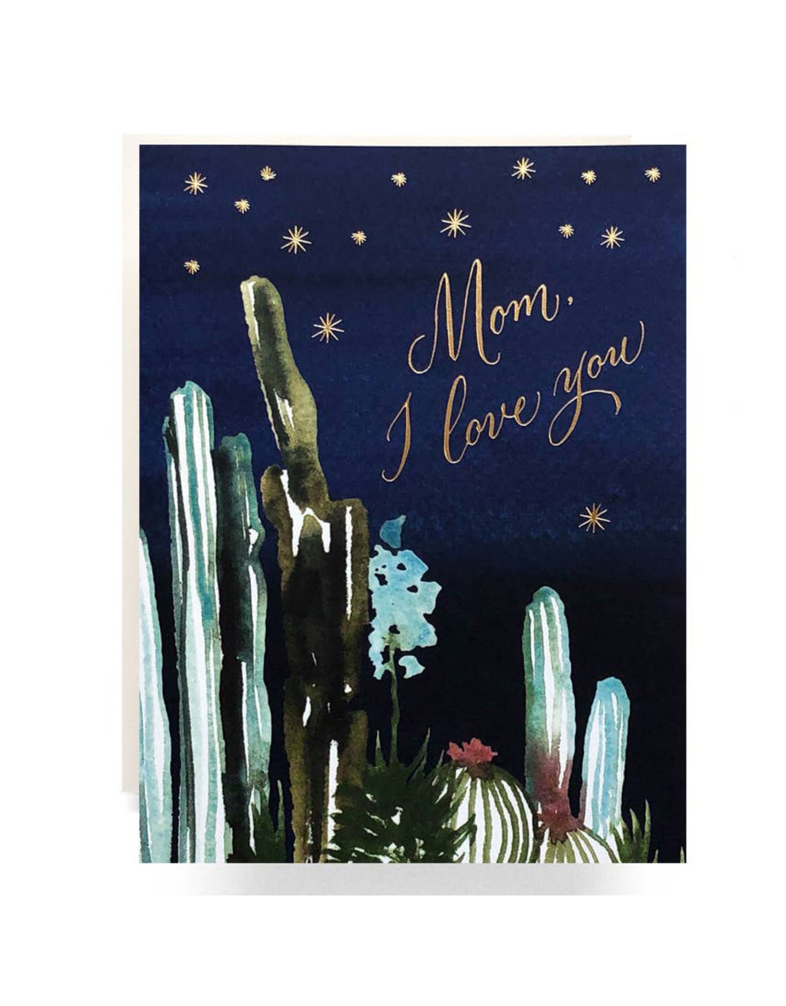 Antiquaria Night Cactus Mother's Day A2 Greeting Card