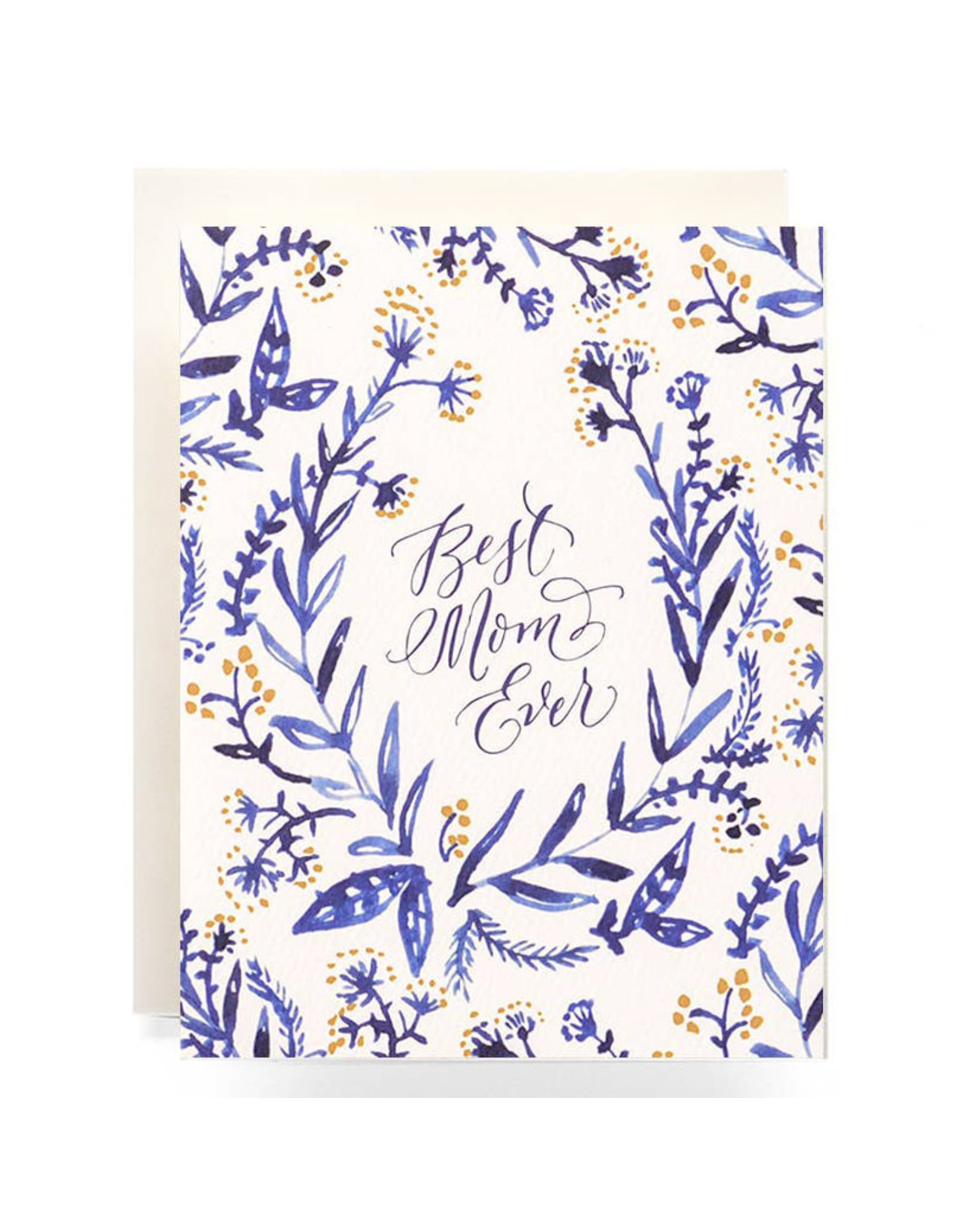 Antiquaria Cobalt & Canary Mothers Day A2 Greeting Card