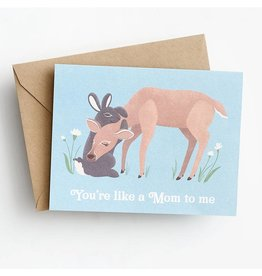 Waste Not Paper Like a Mom Forest Critters Mother's Day A2 Greeting Card