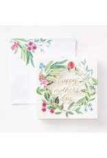 Waste Not Paper Greenery Wreath Popup Mother's Day Greeting Card