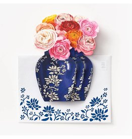 Waste Not Paper Bouquet Popup Mother's Day A7 Greeting Card