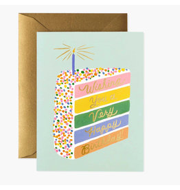 Rifle Paper Co. Cake Slice Birthday A2 Notecard