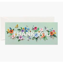Rifle Paper Co. Cut Paper Thank You No.10 Notecard