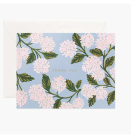 Rifle Paper Co. Hydrangea Thank You Box Set of 8 Notecards