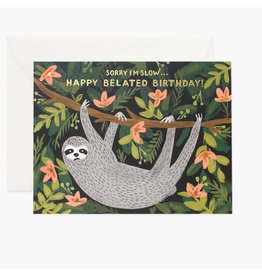 Rifle Paper Co. Sloth Belated Birthday A2 Notecard