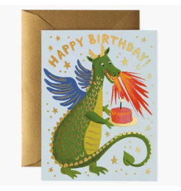 Rifle Paper Co. Birthday Dragon A2 Notecard