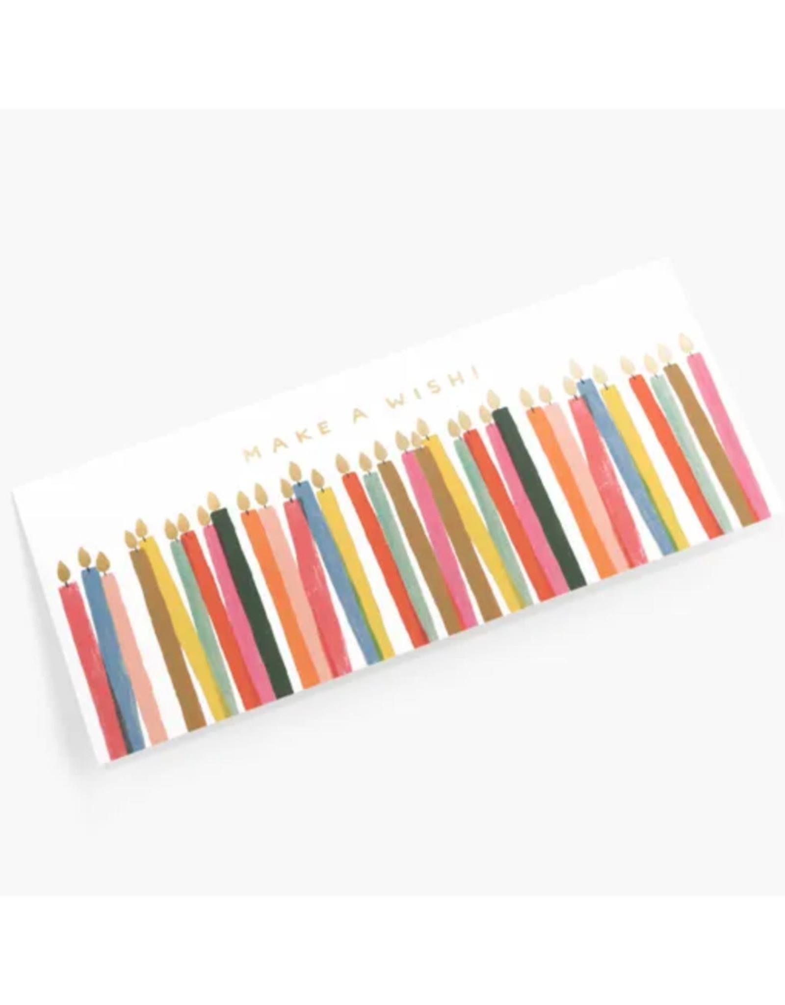Rifle Paper Co. Make a Wish Candles No.10 Notecard