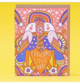 Hello!Lucky Love Birds A2 Notecard