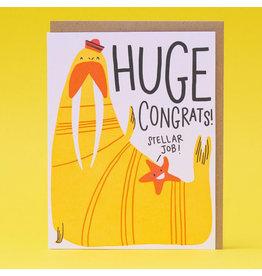 Hello!Lucky Walrus Congrats A2 Notecard