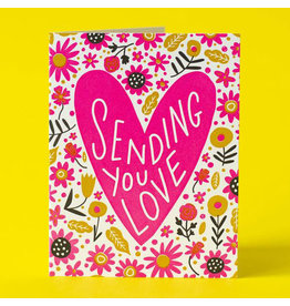 Hello!Lucky Sending Love A2 Notecard