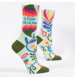 Blue Q Stop Talking Women's Crew Socks