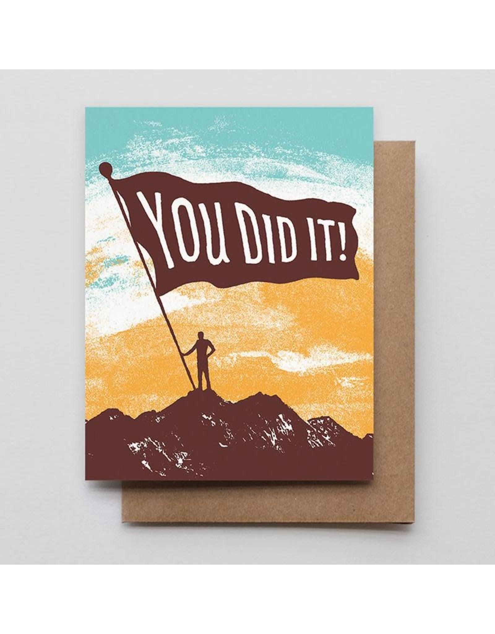 Hammerpress You Did It Mountain A2 Notecard