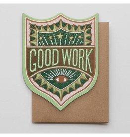 Hammerpress Good Work Badge Notecard