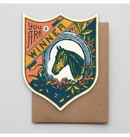 Hammerpress Winner Horse Badge Notecard