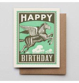 Hammerpress Birthday Pegasus A2 Notecard
