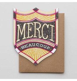 Hammerpress Merci Beaucoup Badge A2 Notecard