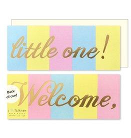 J. Falkner Cards Multi-Stripe Baby Welcome