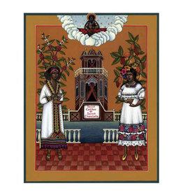 Pomegranate Olga Volchkova: Saint Coffee and Saint Chocolate Everyday Notecard