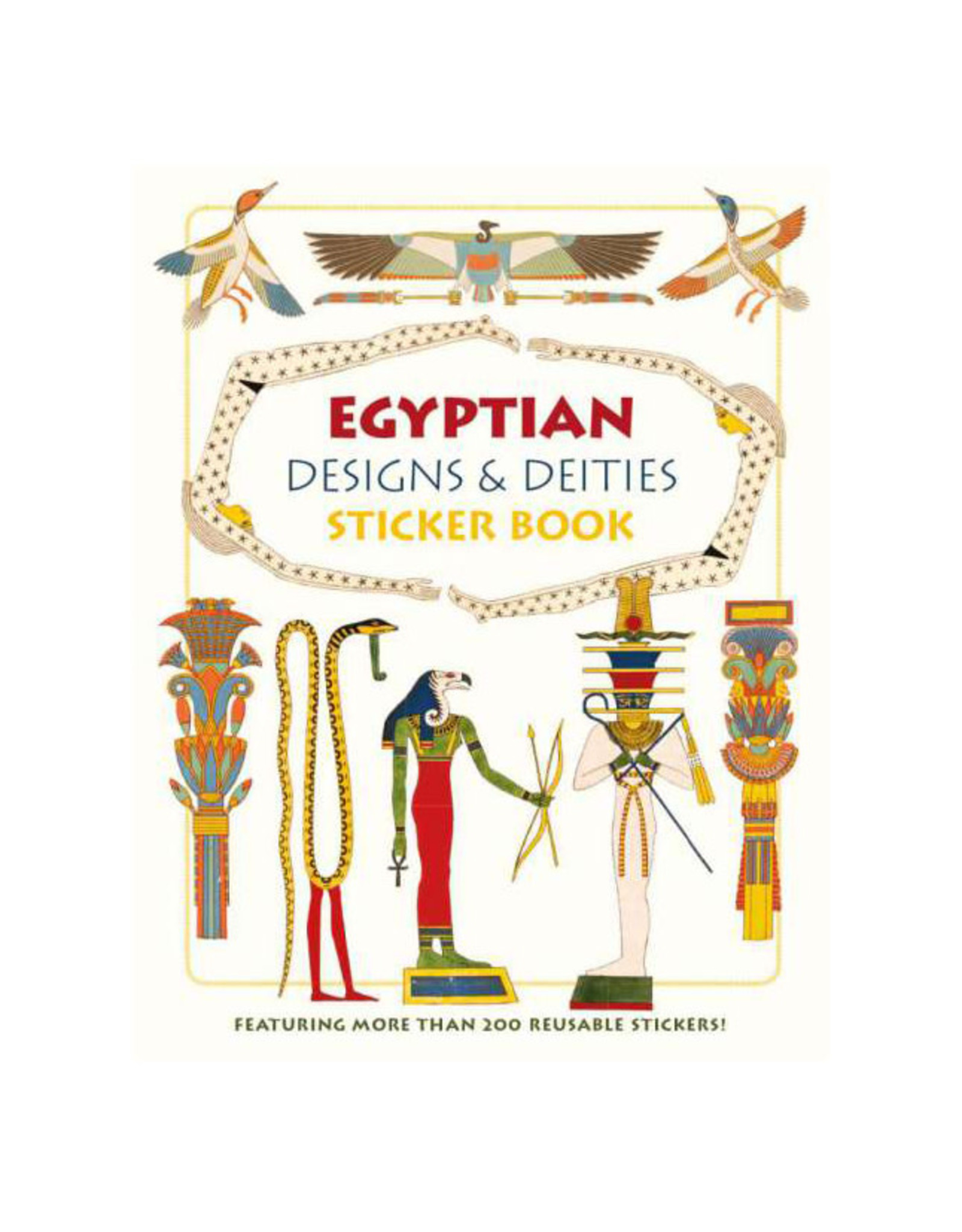 Pomegranate Egyptian Designs & Deities Sticker Book