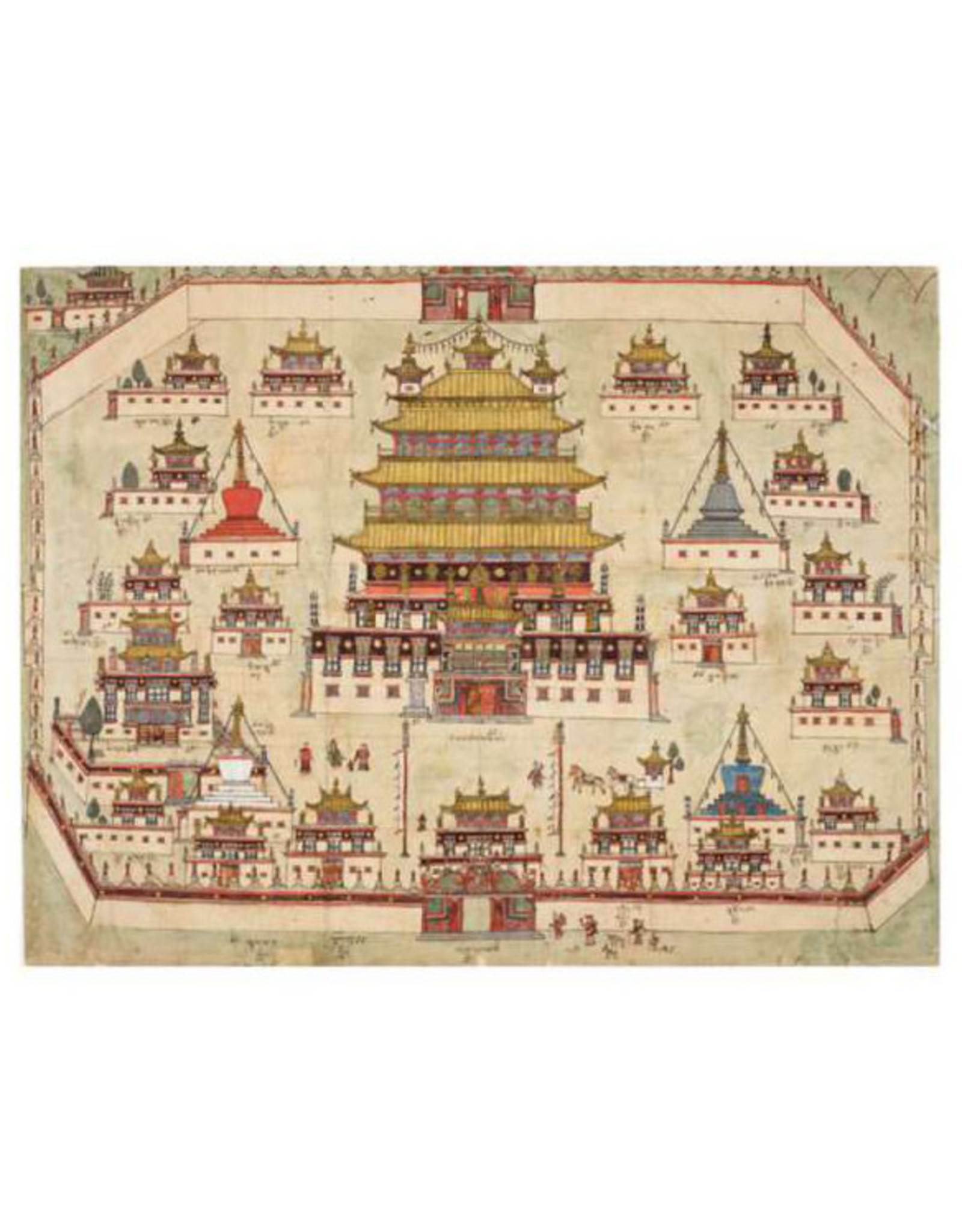 Pomegranate Picture-Map of Central and Eastern Tibet Postcard