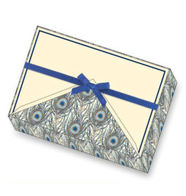 Rossi Notecard Box Peacock Feathers
