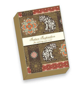 Rossi Gold/Gold Indian Inspiration Notecard Box of 10
