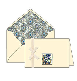 Rossi G Initial Cards Box of 10 with Lined Envelopes