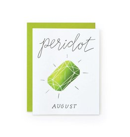 Wild Ink Press Peridot Gemstone Birthday Card A2 GM-371